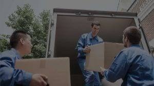 Movers Unloading a Moving Van